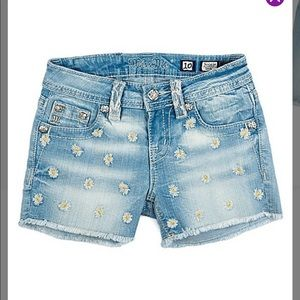 NWT MISS ME BLUE DAISY STONE WASH DENIM - GIRLS